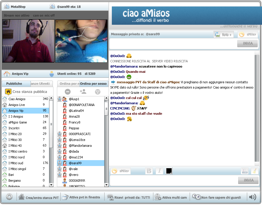 video live chat conoscere amici